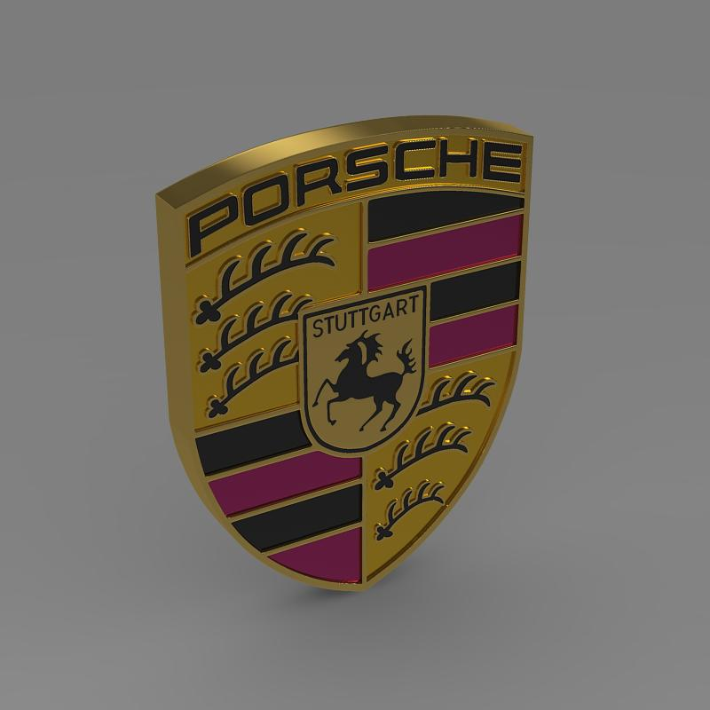 Porsche Logo 3d Model Flatpyramid