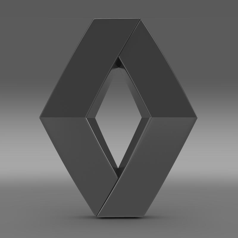 renault logo 3d model 3ds max fbx c4d lwo ma mb hrc xsi obj 117719