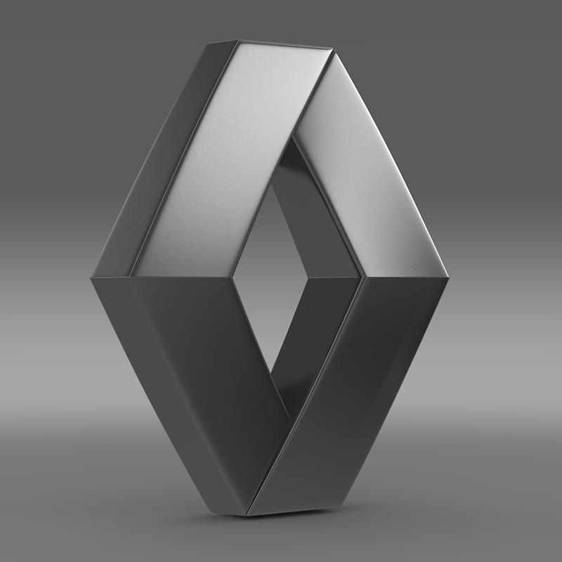 renault logo 3d model 3ds max fbx c4d lwo ma mb hrc xsi obj 117720