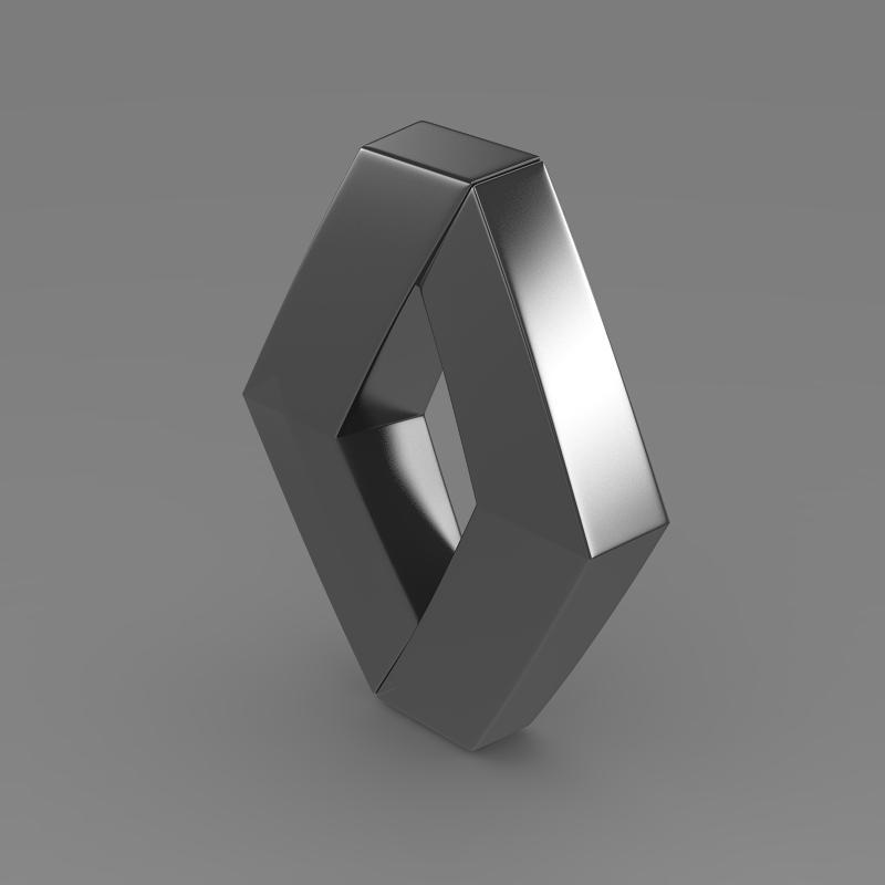 renault logo 3d model 3ds max fbx c4d lwo ma mb hrc xsi obj 117721