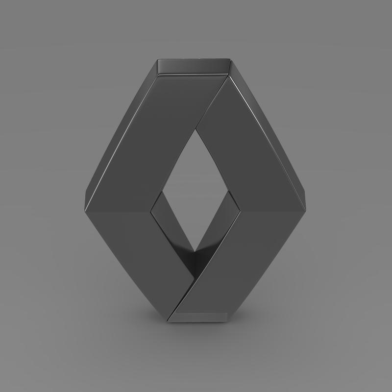 renault logo 3d model 3ds max fbx c4d lwo ma mb hrc xsi obj 117722