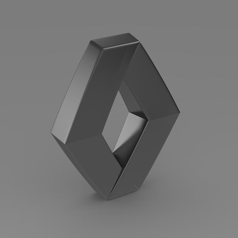 renault logo 3d model 3ds max fbx c4d lwo ma mb hrc xsi obj 117723