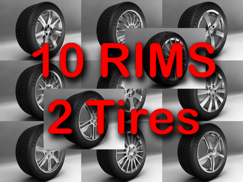 rims and tires 3d model 3ds max obj 127850