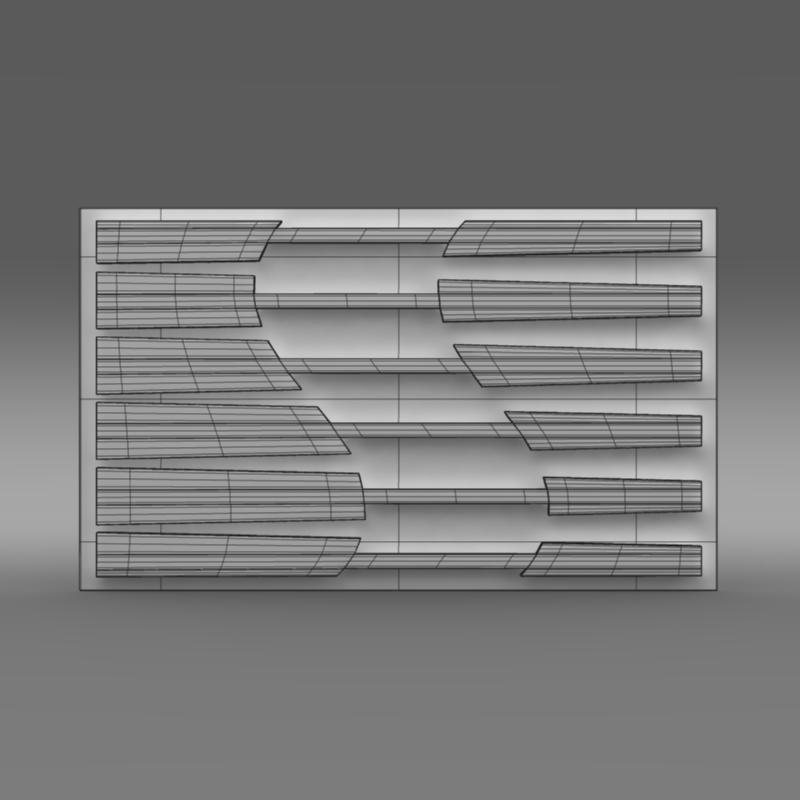 saleen logo 3d model 3ds max fbx c4d lwo ma mb hrc xsi obj 119559