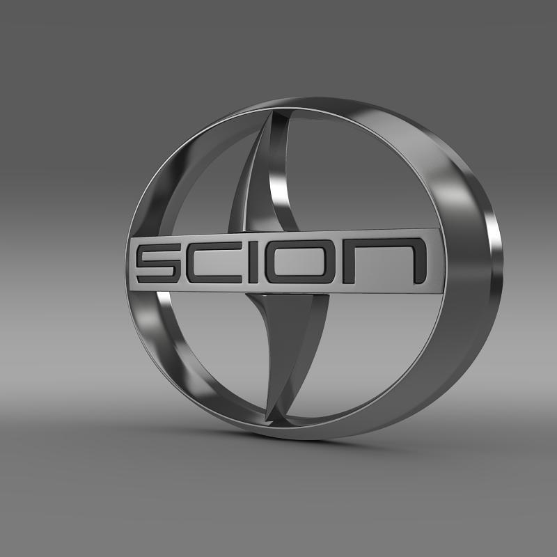 scion logo 3d model 3ds max fbx c4d lwo ma mb hrc xsi obj 119568