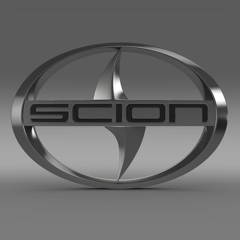 scion logo 3d model 3ds max fbx c4d lwo ma mb hrc xsi obj 119569
