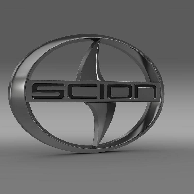 scion logo 3d model 3ds max fbx c4d lwo ma mb hrc xsi obj 119570