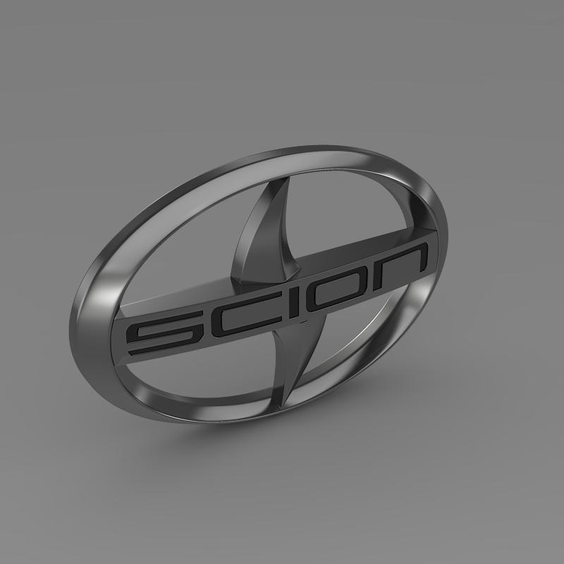 scion logo 3d model 3ds max fbx c4d lwo ma mb hrc xsi obj 119573