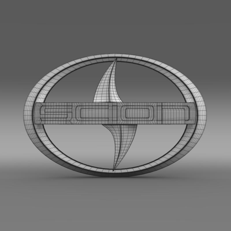 scion logo 3d model 3ds max fbx c4d lwo ma mb hrc xsi obj 119574