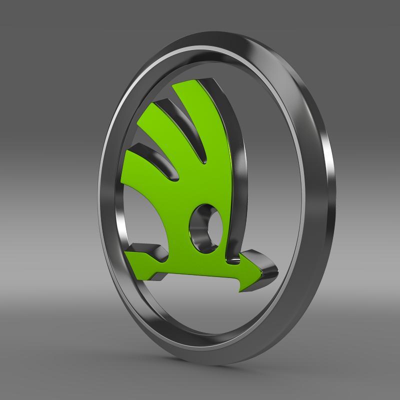 scoda logo 3d model 3ds max fbx c4d ar gyfer yr hrc xsi obj