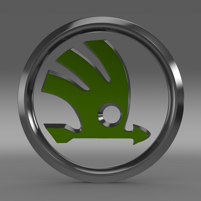 scoda logo 3d modeli 3ds max fbx c4d lwo ma mb hrc xsi obj 117739