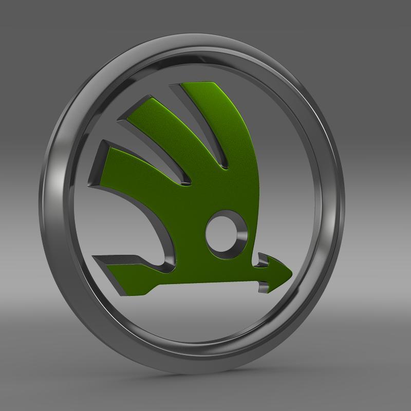 scoda logo 3d modeli 3ds max fbx c4d lwo ma mb hrc xsi obj 117740