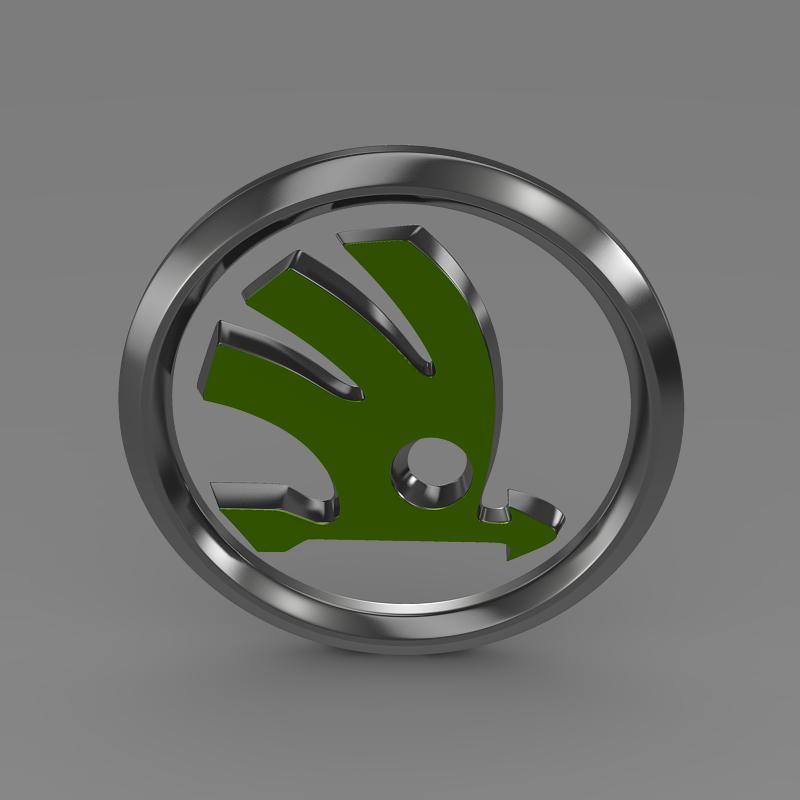 scoda logo 3d modeli 3ds max fbx c4d lwo ma mb hrc xsi obj 117742