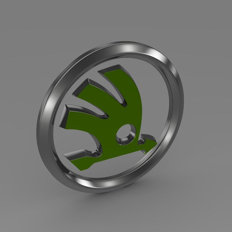 scoda logo 3d modeli 3ds max fbx c4d lwo ma mb hrc xsi obj 117743