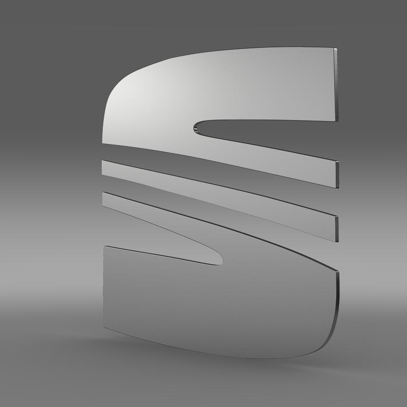 seat logo 3d model 3ds max fbx c4d lwo ma mb hrc xsi obj 117393
