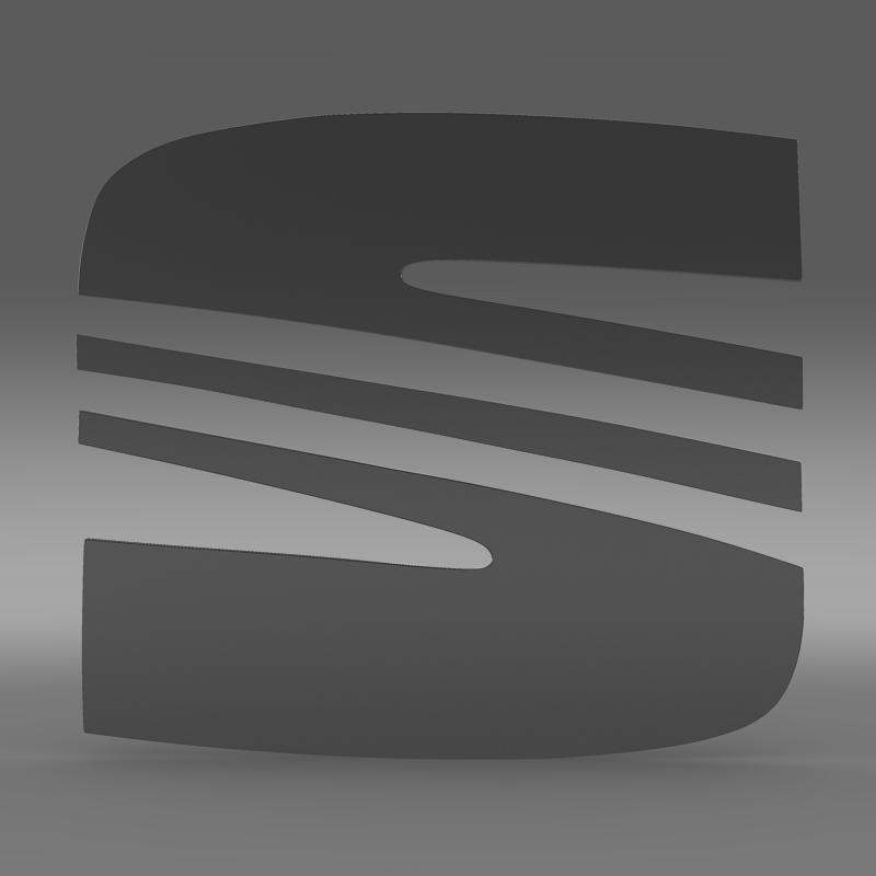 Seat Logo 3d Model Buy Seat Logo 3d Model Flatpyramid