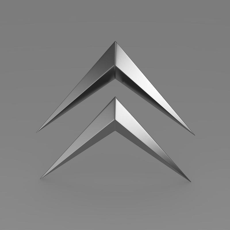 Сitroen Old Logo 3d Model Buy Сitroen Old Logo 3d Model
