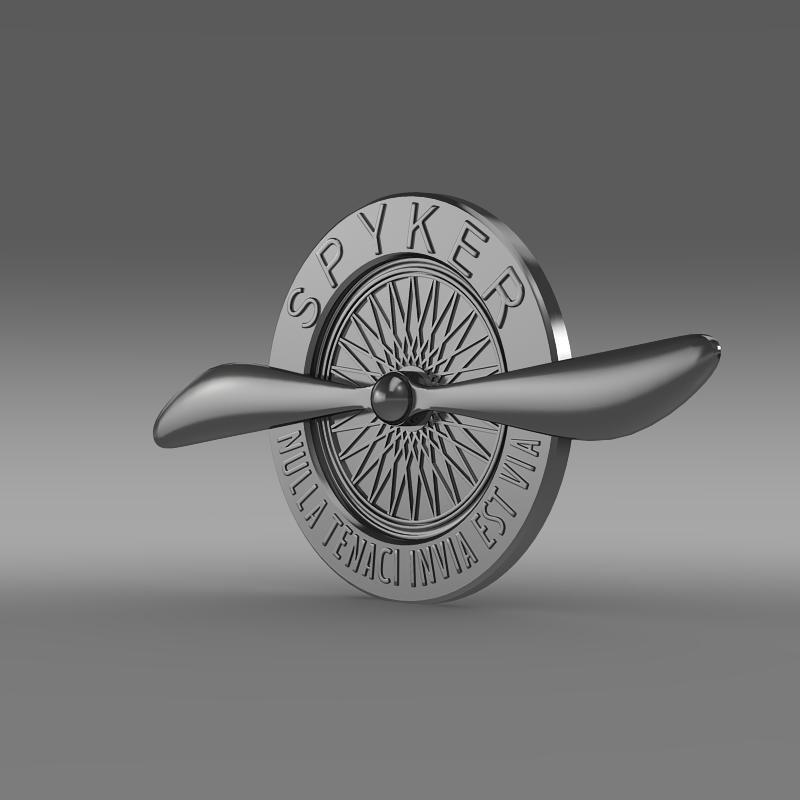 spyker logo 3d model 3ds max fbx c4d lwo ma mb hrc xsi obj 152537