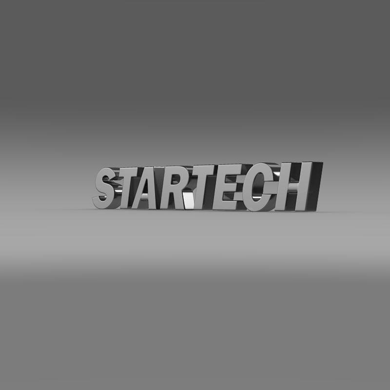 startech logo 3d model 3ds max fbx c4d lwo ma mb hrc xsi obj 151987