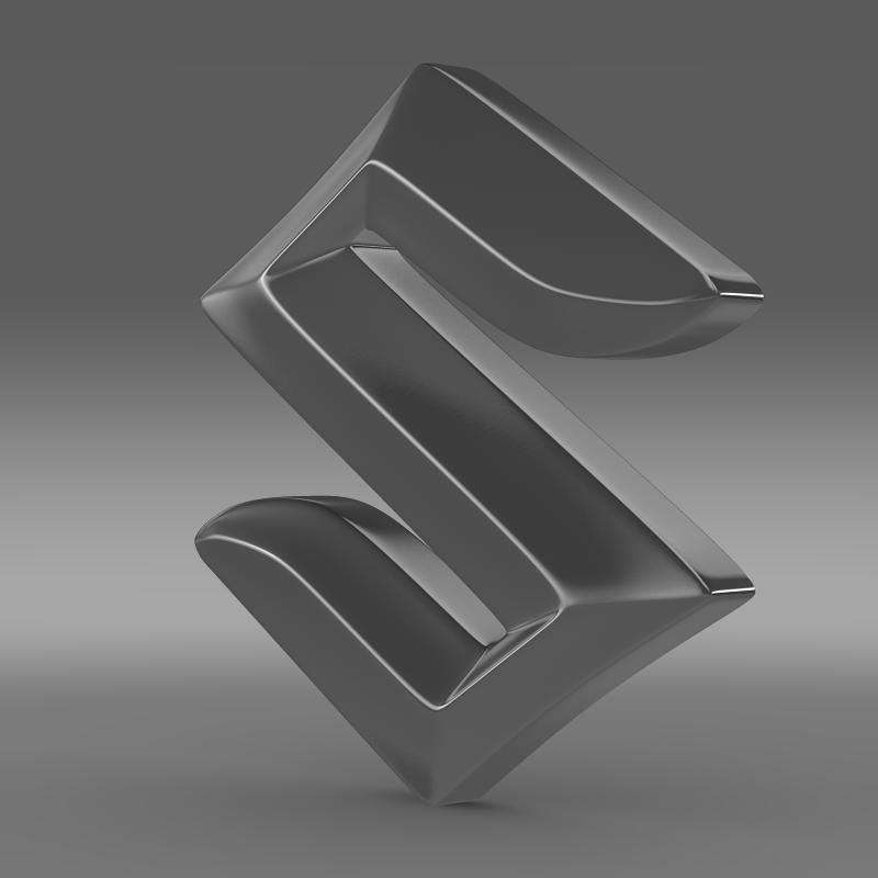 suzuki logo 2 3d model 3ds max fbx c4d lwo ma mb hrc xsi obj 117778