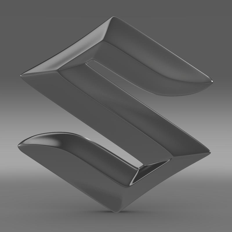 suzuki logo 2 3d model 3ds max fbx c4d lwo ma mb hrc xsi obj 117779
