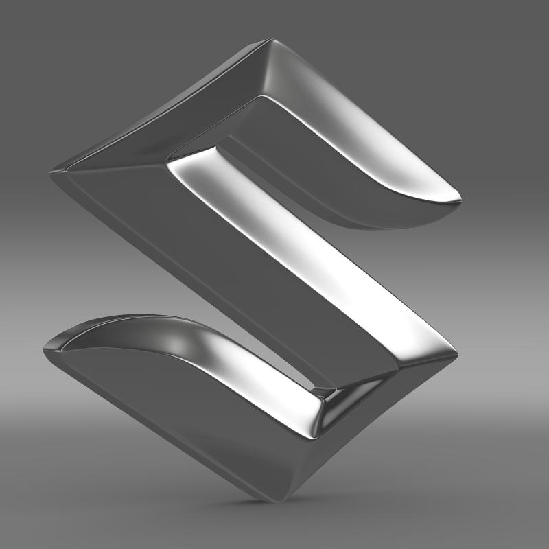 suzuki logo 2 3d model 3ds max fbx c4d lwo ma mb hrc xsi obj 117780