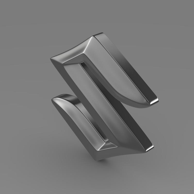 suzuki logo 2 3d model 3ds max fbx c4d lwo ma mb hrc xsi obj 117781