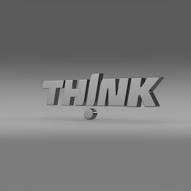 think logo 3d model 3ds max fbx c4d lwo ma mb hrc xsi obj 152146