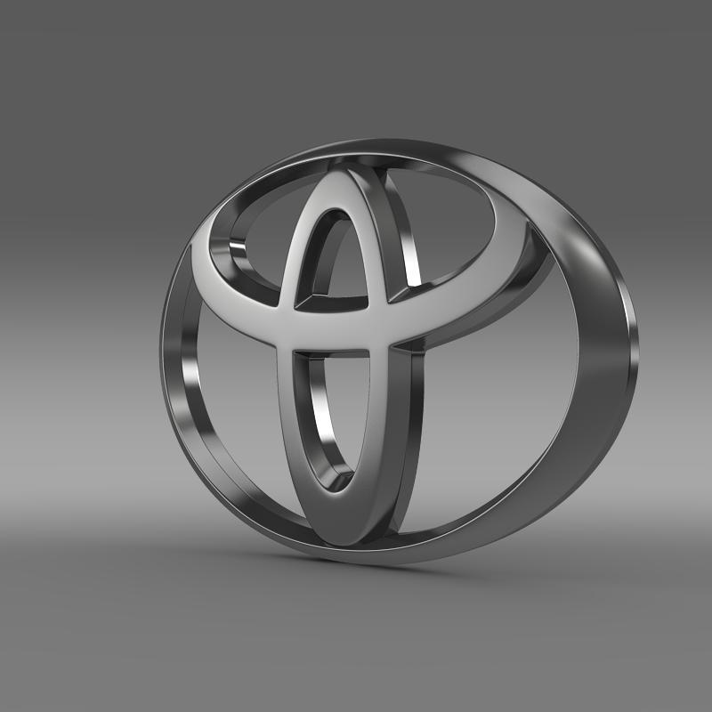 toyota logo v1 3d model 3ds max fbx c4d lwo ma mb hrc xsi obj 117407