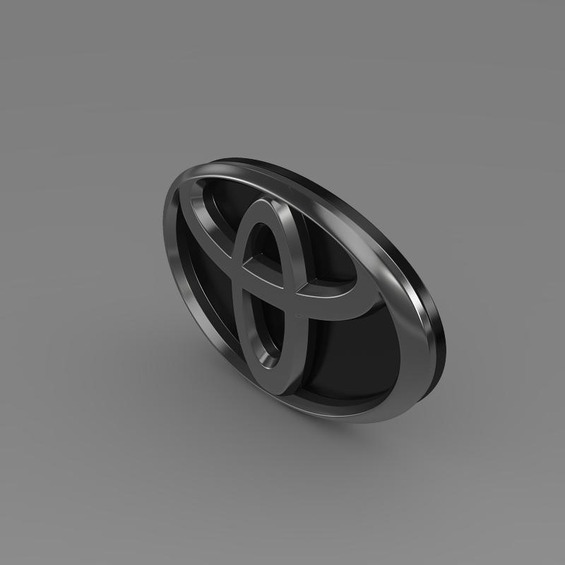toyota motors logo 3d model 3ds max fbx c4d lwo ma mb hrc xsi obj 152156