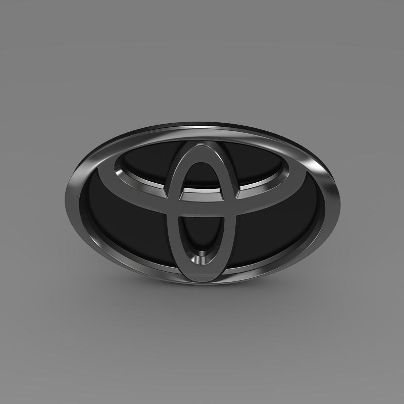 toyota motors logo 3d model 3ds max fbx c4d lwo ma mb hrc xsi obj 152157