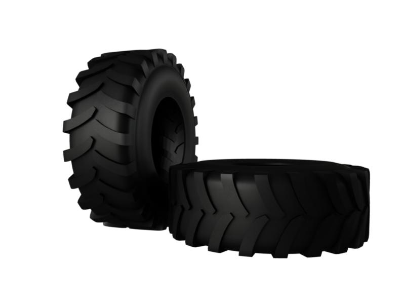 tractor tire 3d model 3ds fbx c4d lwo ma mb hrc xsi obj 128905