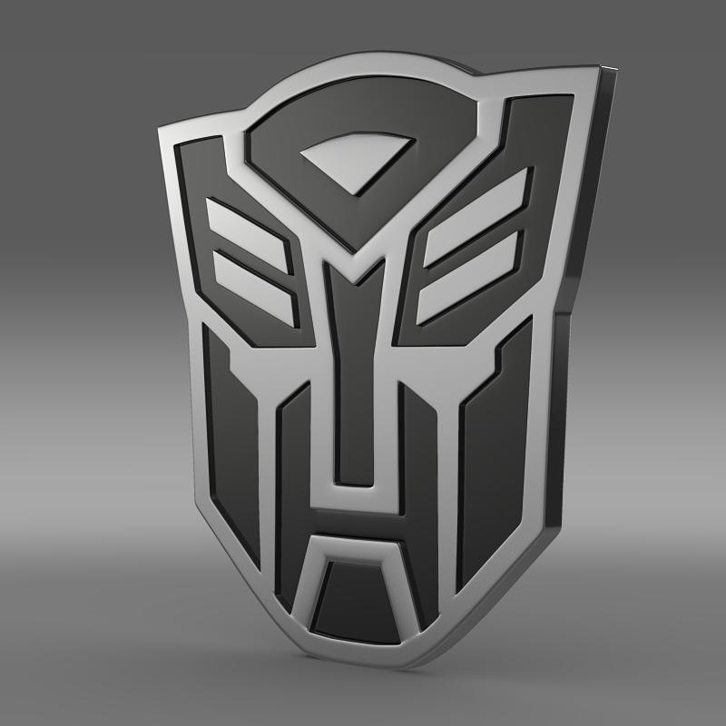 transformer logo 3d model 3ds max fbx c4d lwo ma mb hrc xsi obj 152160