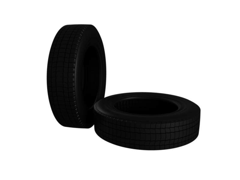 truck car tire 3d model 3ds fbx c4d lwo ma mb hrc xsi obj 128911
