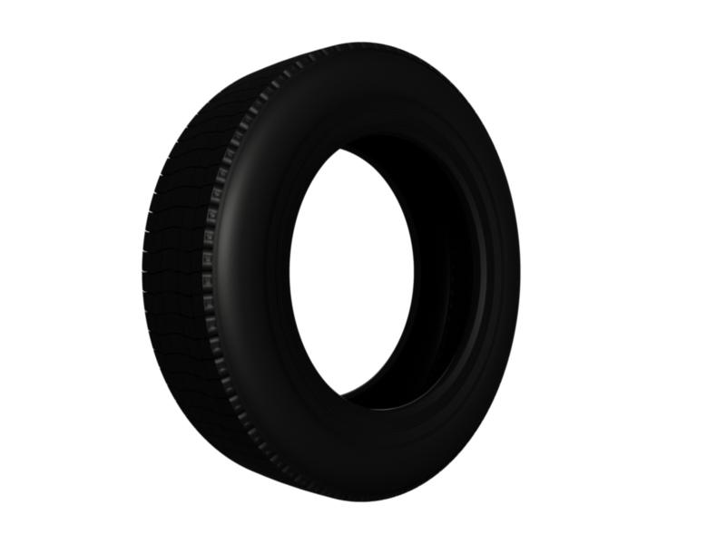 truck car tire 3d model 3ds fbx c4d lwo ma mb hrc xsi obj 128912