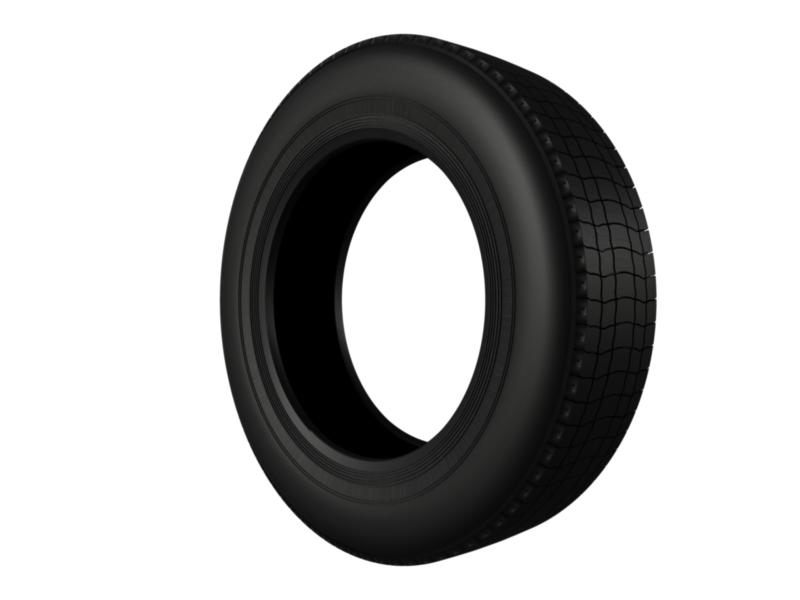 truck car tire 3d model 3ds fbx c4d lwo ma mb hrc xsi obj 128914
