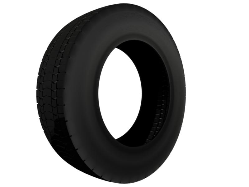 truck tire 3d model 3ds fbx c4d lwo ma mb hrc xsi obj 128940