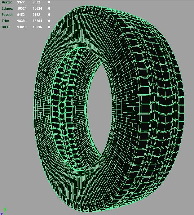 truck tire 3d model 3ds fbx c4d lwo ma mb hrc xsi obj 128942