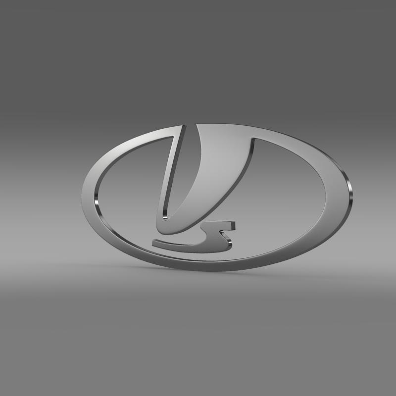 vaz logo 3d model 3ds max fbx c4d lwo ma mb hrc xsi obj 117414