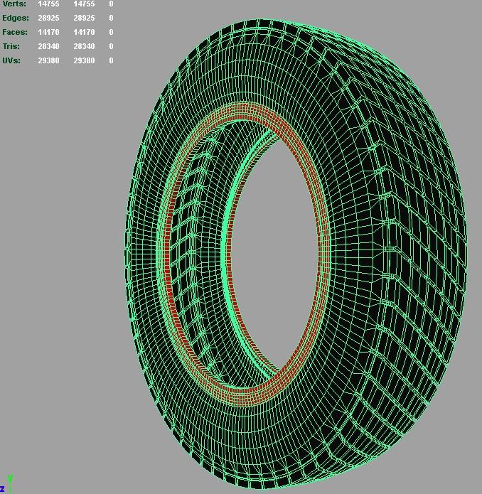 vintage classic sport tire 3d model 3ds fbx c4d lwo hrc xsi 128952