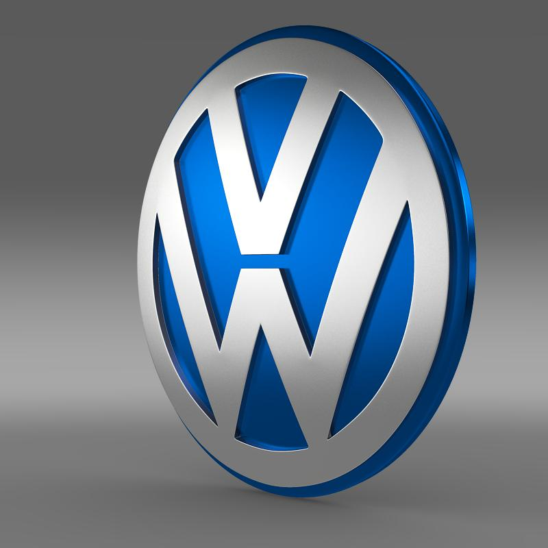 volkswagen group logo 3d model 3ds max fbx c4d lwo ma hr hr xsi obj 152181