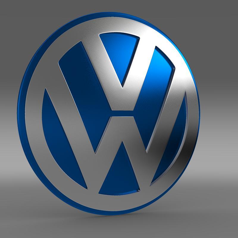 volkswagen group logo 3d model 3ds max fbx c4d lwo ma mb hrc xsi obj 152183