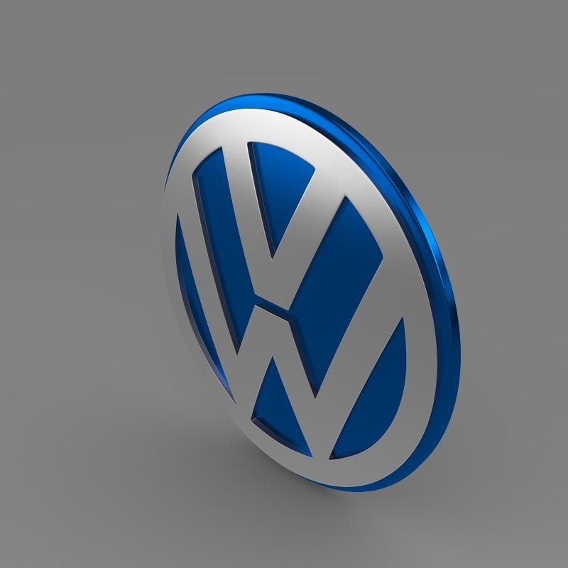 volkswagen group logo 3d model 3ds max fbx c4d lwo ma mb hrc xsi obj 152184