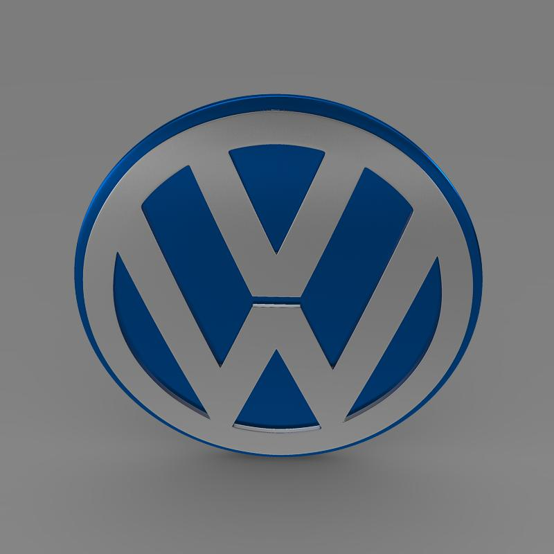 volkswagen group logo 3d model 3ds max fbx c4d lwo ma mb hrc xsi obj 152185