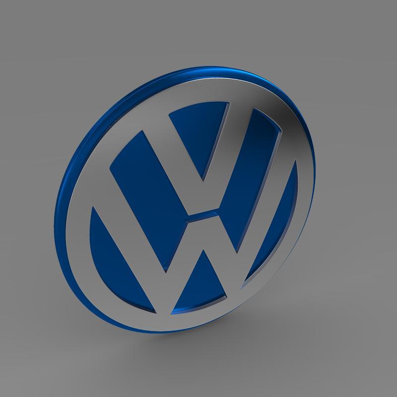 volkswagen group logo 3d model 3ds max fbx c4d lwo ma mb hrc xsi obj 152186
