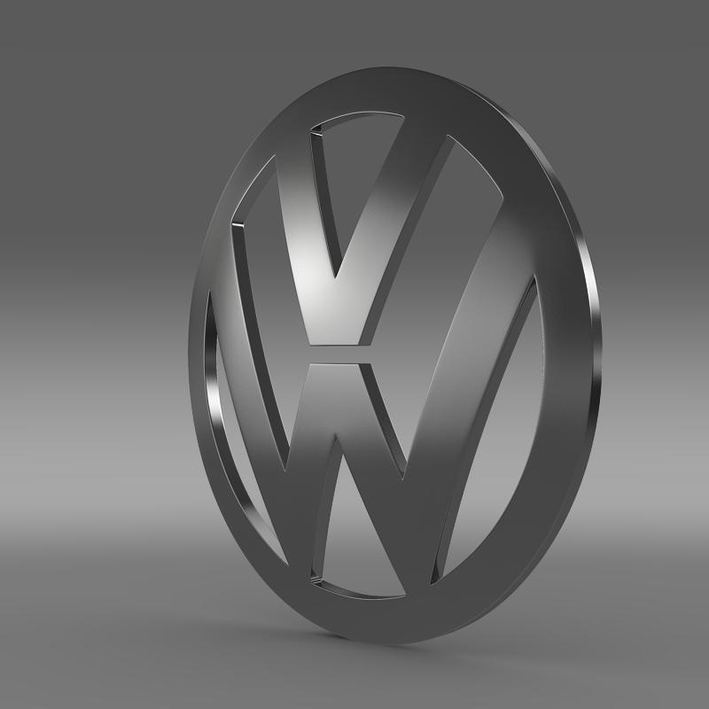 volkswagen logo 3d model 3ds max fbx c4d lwo ma mb hrc xsi obj 117421