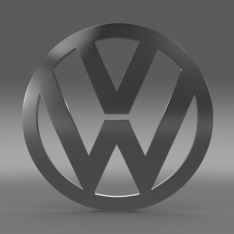 volkswagen logo 3d model 3ds max fbx c4d lwo ma mb hrc xsi obj 117422