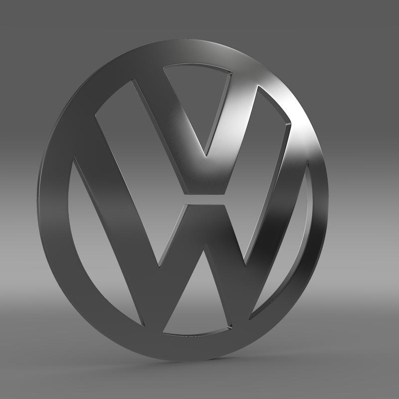 volkswagen logo 3d model 3ds max fbx c4d lwo ma mb hrc xsi obj 117423
