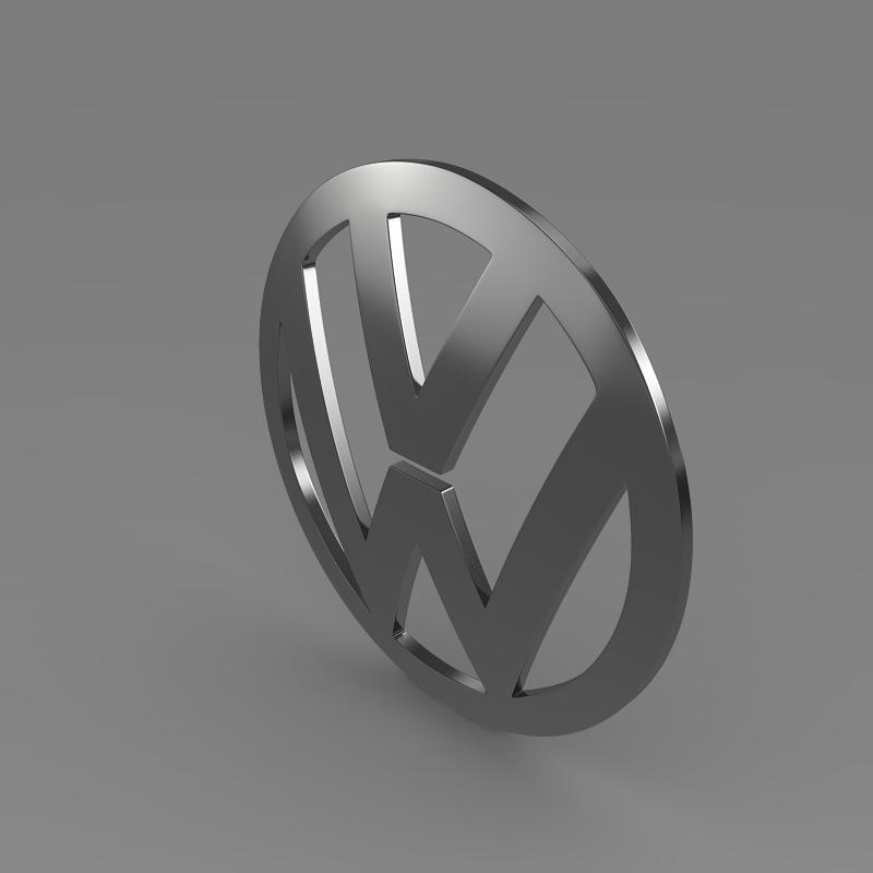 volkswagen logo 3d model 3ds max fbx c4d lwo ma mb hrc xsi obj 117424
