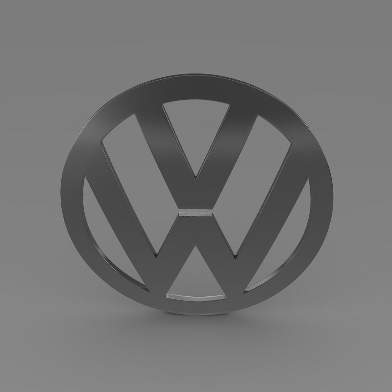 volkswagen logo 3d model 3ds max fbx c4d lwo ma mb hrc xsi obj 117425